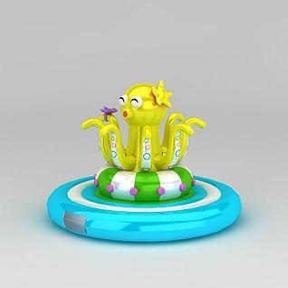 儿童游乐设备淘气包充气城堡3d模型