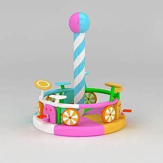 儿童游乐设备淘气堡充气城堡3d模型