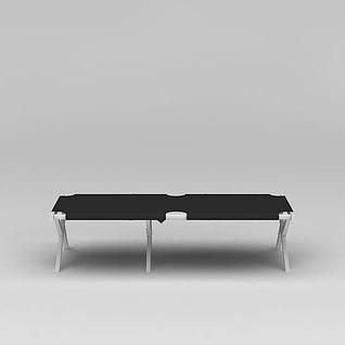 商展休闲长椅3d模型