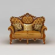 现代欧式豪华双人沙发3D模型3d模型