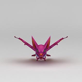 Q版小鱼儿与花无缺游戏角色怪物3d模型