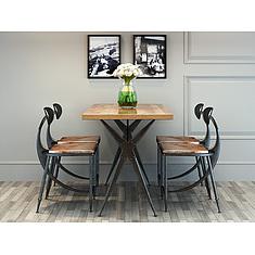 现代loft工业风桌椅套装3D模型3d模型