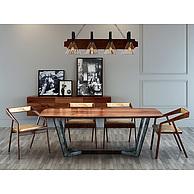 现代时尚loft工业风桌椅3D模型3d模型