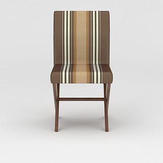 现代条纹<font class='myIsRed'>餐椅</font>3d模型