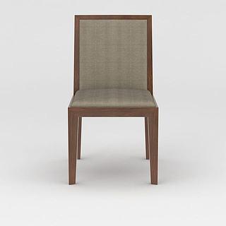 简约实木<font class='myIsRed'>餐椅</font>3d模型