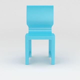 现代蓝色<font class='myIsRed'>餐椅</font>3d模型