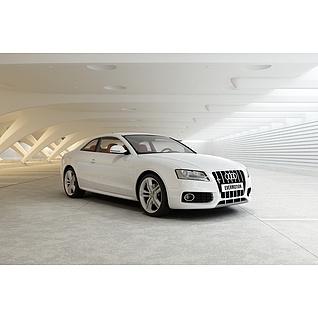 白色奥迪汽车3d模型3d模型