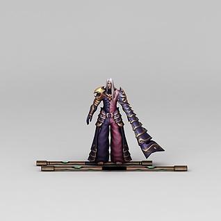 凤舞三国游戏人物动漫角色男人3d模型