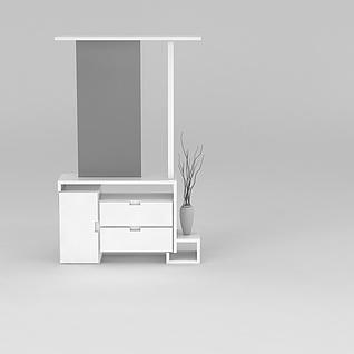 现代玄关柜子3d模型