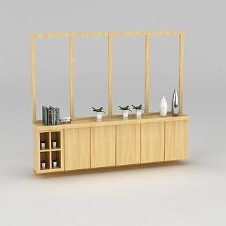 客厅玄关鞋柜3d模型