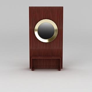 玄关鞋凳3d模型