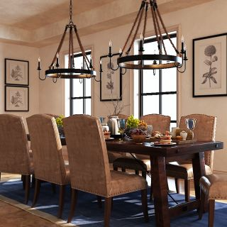 现代精品实木餐桌餐椅组合3d模型