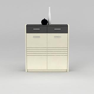 玄关鞋柜3d模型