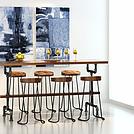 loft工业风桌椅套装模型