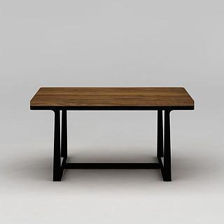 现代实木<font class='myIsRed'>餐桌</font>3d模型