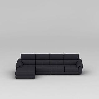 简约深灰色布艺沙发3d模型