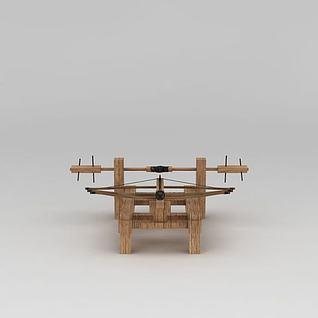 宋朝三弓床子弩3d模型