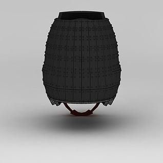 西汉步军头盔胄3d模型