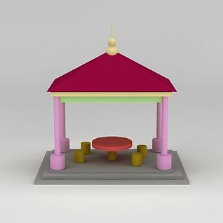 儿童玩具亭子3d模型