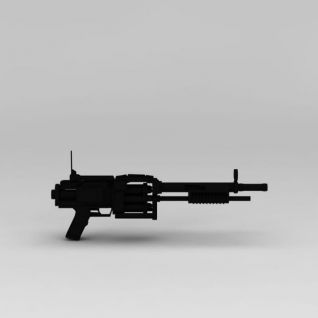 霰弹枪3d模型