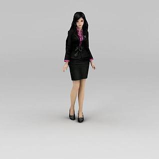 职业女人秘书3d模型