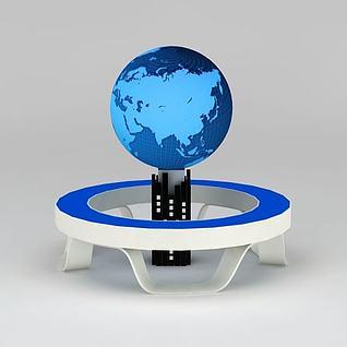 地球家园展台展品3d模型