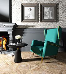 精品蓝色沙发椅茶几组合模型3d模型