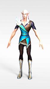 游戏角色精灵男模型3d模型