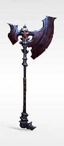 暗黑血统游戏道具装备战斧模型3d模型