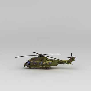 军用直升机3d模型