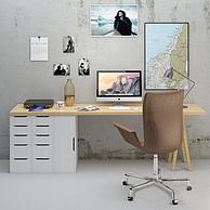 现代书桌椅子组合3D模型3d模型