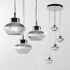 现代时尚艺术吊灯模型