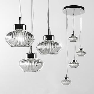 现代时尚艺术吊灯3d模型