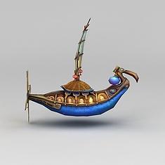 游戏道具装饰品船3D模型3d模型