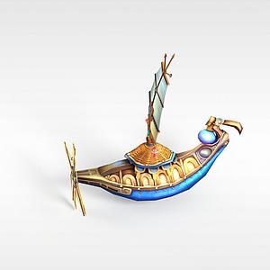 游戏道具装饰品船模型3d模型