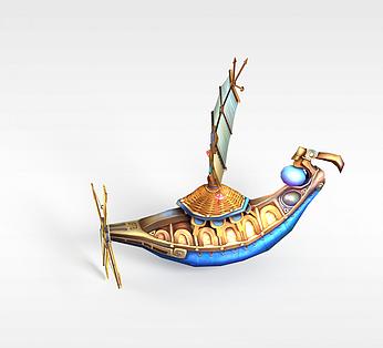 游戏道具装饰品船