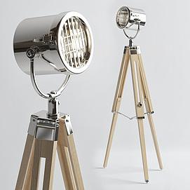 创意金属落地灯模型