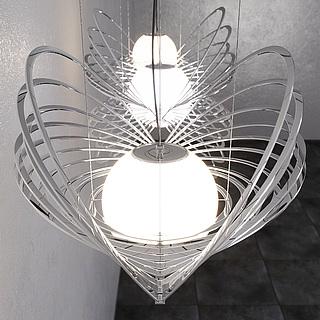 时尚艺术吊灯3d模型