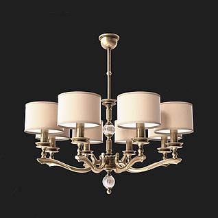 欧式餐厅吊灯3d模型