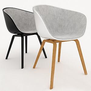 3d北欧休闲椅模型