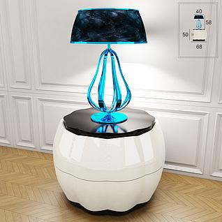 现代时尚蓝色台灯3d模型