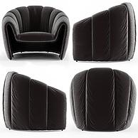 时尚灰色软包布艺单人沙发3D模型3d模型