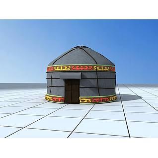 蒙古包3d模型