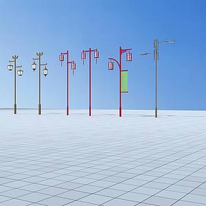 中式路燈模型3d模型