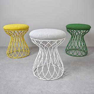 时尚圆凳子3d模型