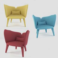 时尚休闲椅子3D模型3d模型