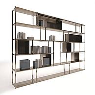 现代书柜书架3D模型3d模型