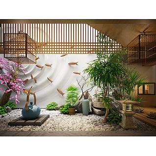 庭院装饰摆件3d模型