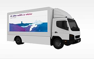 3d广告小篷车模型