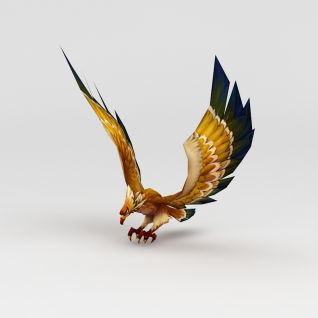 创世西游动漫游戏角色鹰3d模型